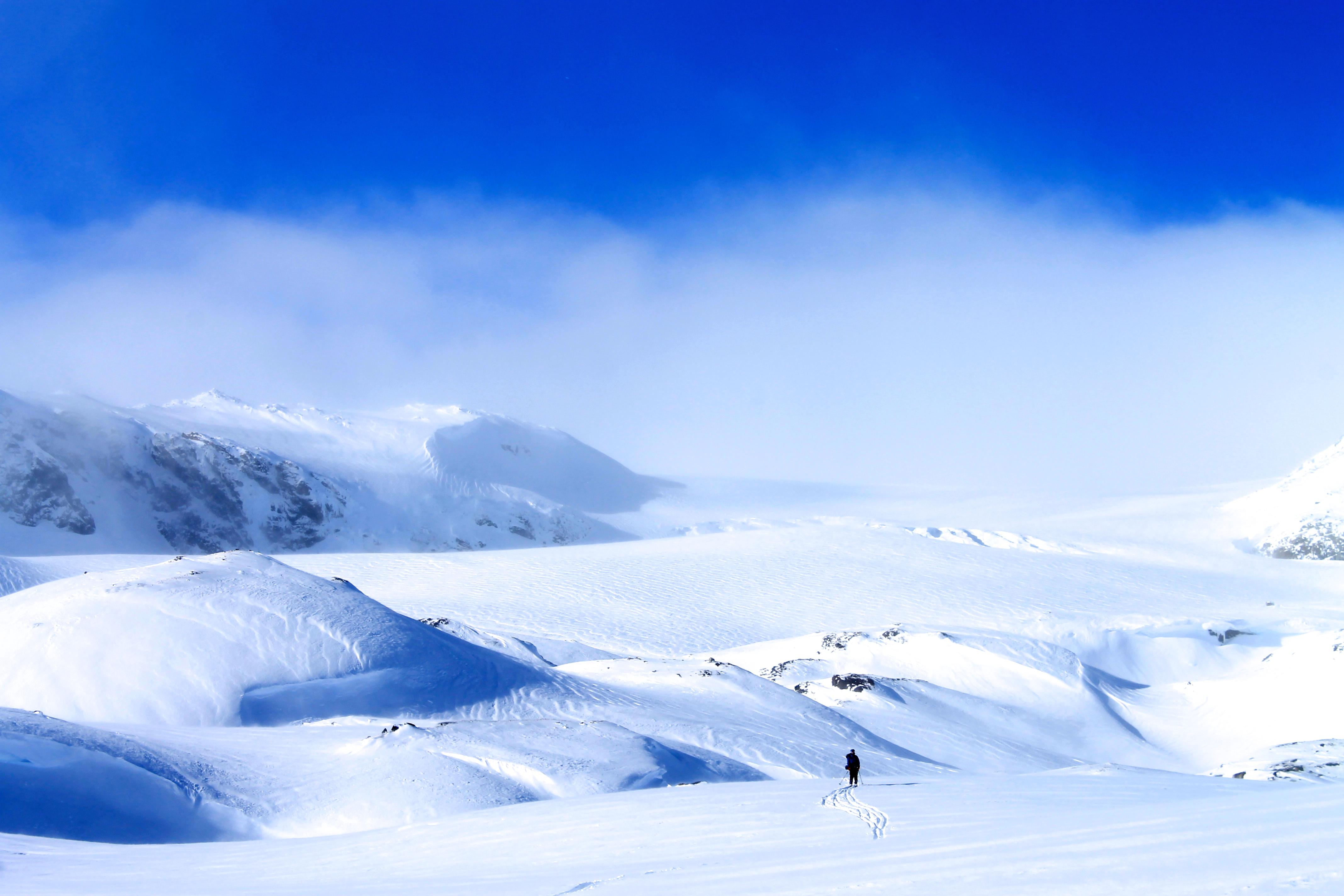 Vestra Leirebottsskåka, den sørligste brearmen til  Hardangerjøkulen
