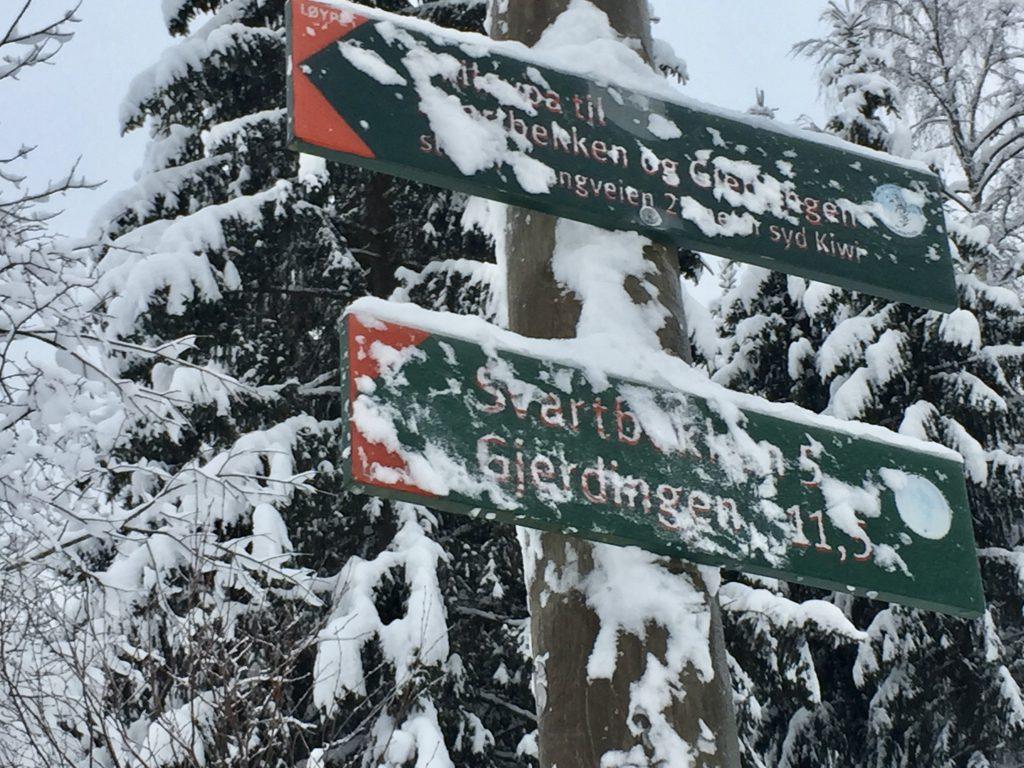 Fra Grua starter en på de fire milene inn til Oslo. Første del av turen går til Gjerdingen.