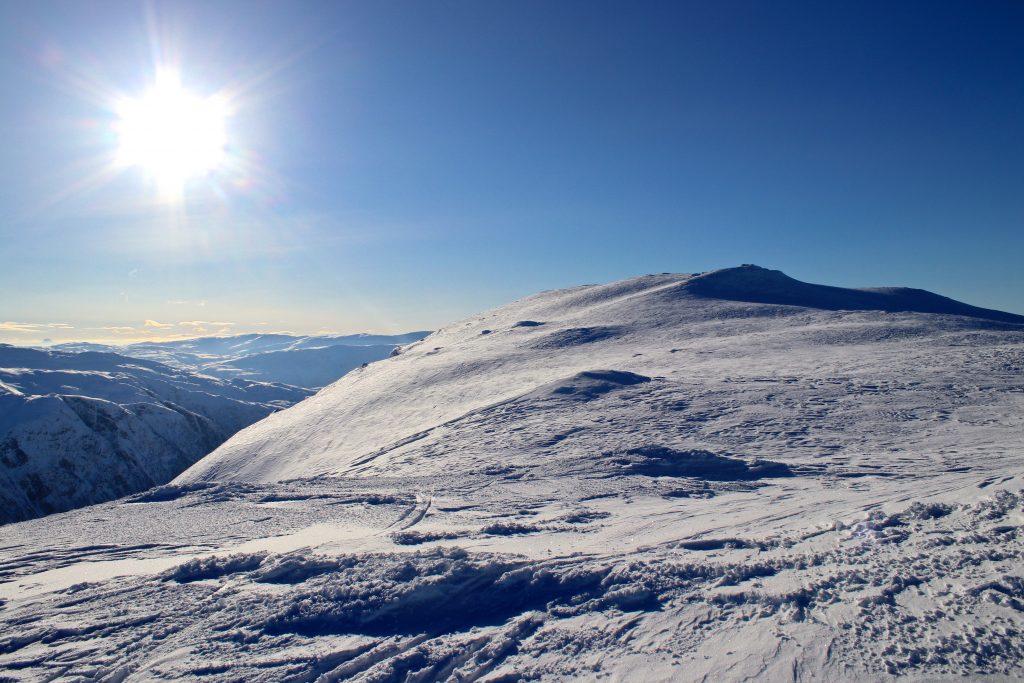 Ryggen opp mot toppen av Vassfjøra (1.633 moh).