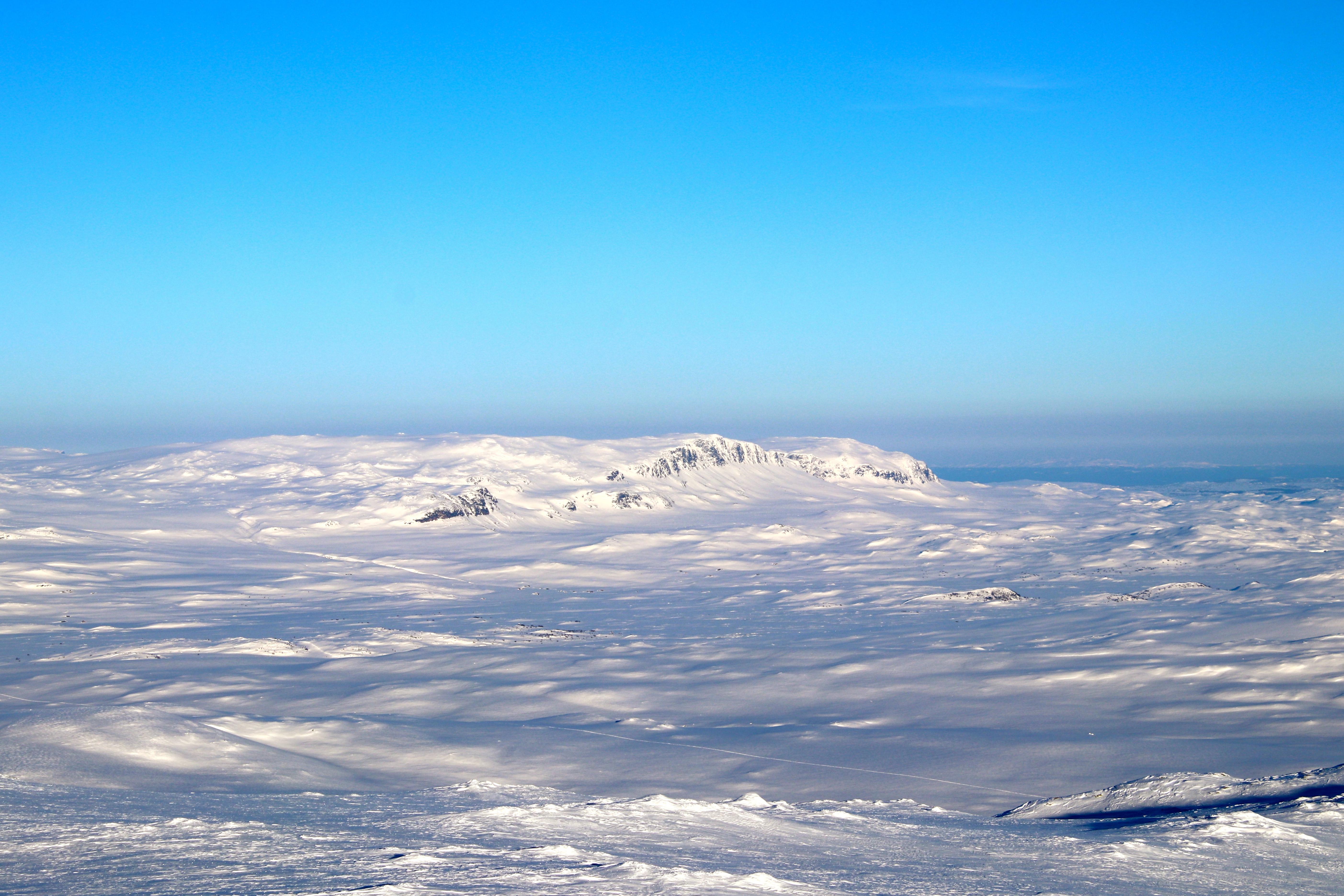 Reinskarvet (1.791 moh) sett fra Blåbergi.