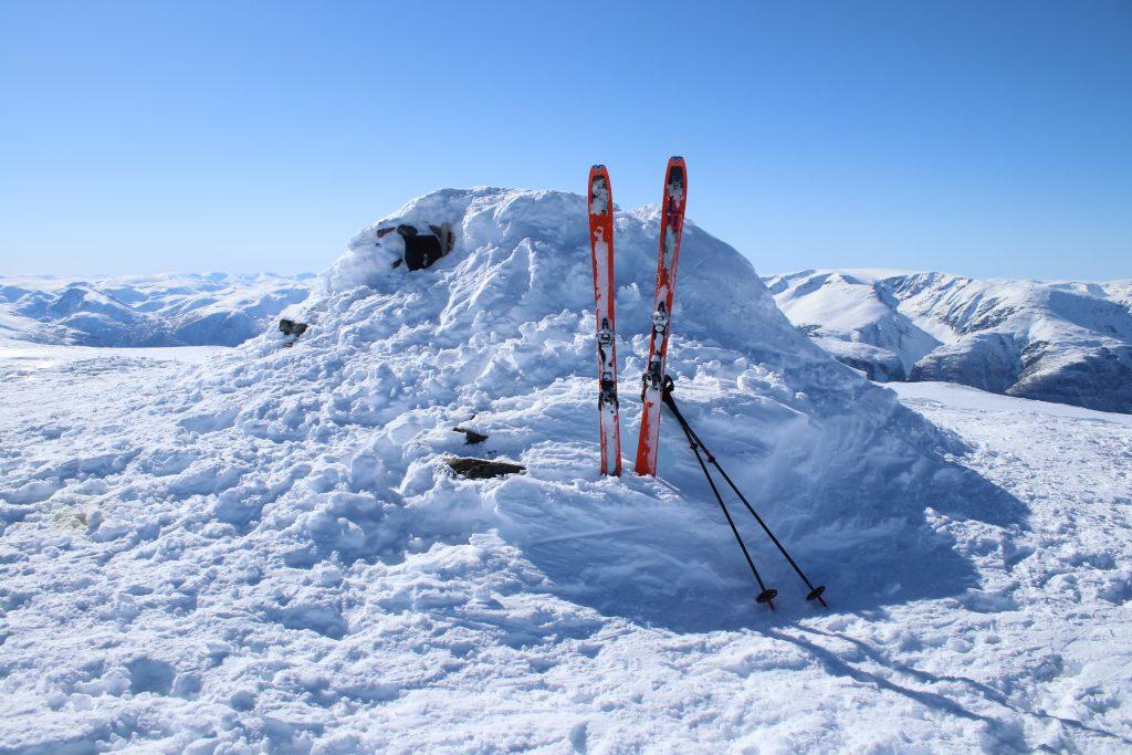 Toppen av Blåskavlen (1.809 moh) i Aurland.