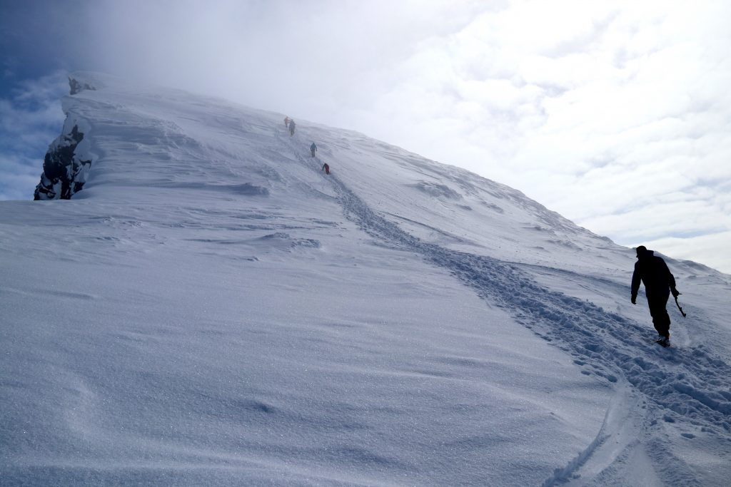 Det siste stykket opp mot toppen av Store Smørstabbtinden.