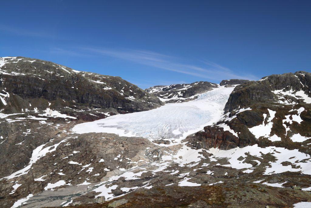 Brearmen Rembesdalskåka må sies å være en av Hardangerjøkulens flotteste.