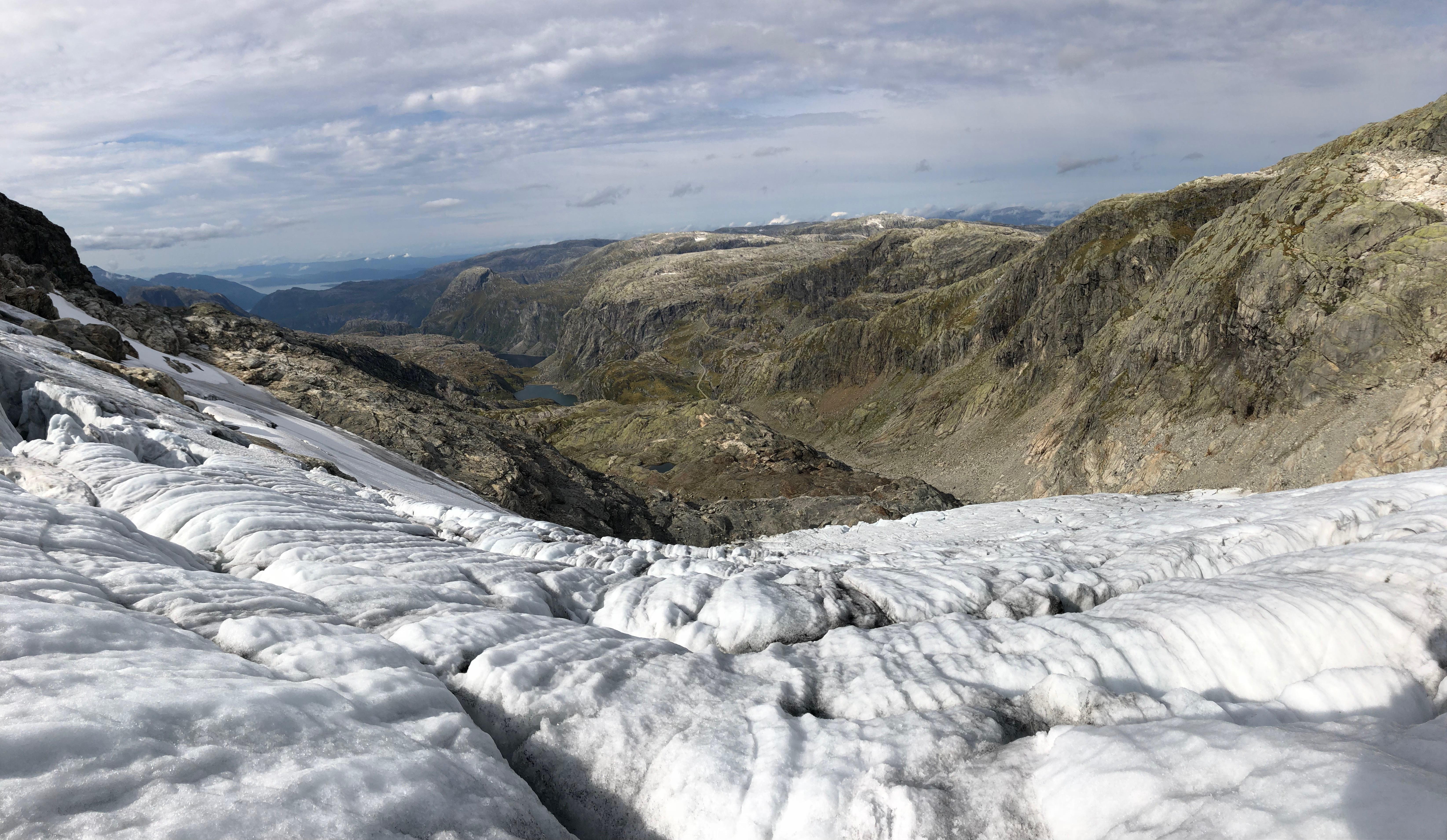 Utsikt fra Botnabreen i Kvinnherad.