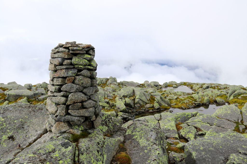Andersfjellet (1.211 moh) passeres på vei mot Bjørndalstindane (1.426 moh).
