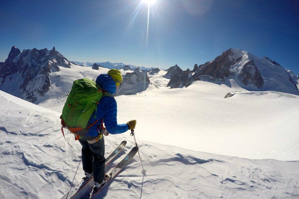 Starten på den berømte og populære skinedkjøringen Vallée Blanche.