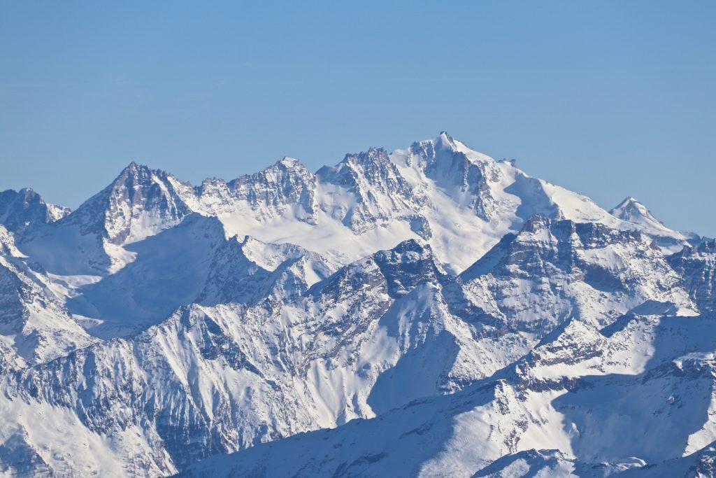 Utsikt mot Grand Paradiso (4.061 moh) fra Pointe Helbronner.