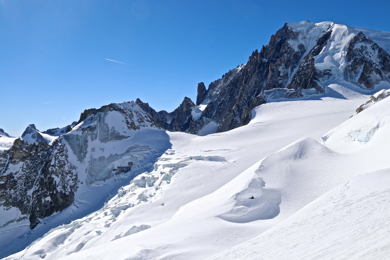 Utsikt mot skikjøringsruten Vallée Blanche - Vraie.