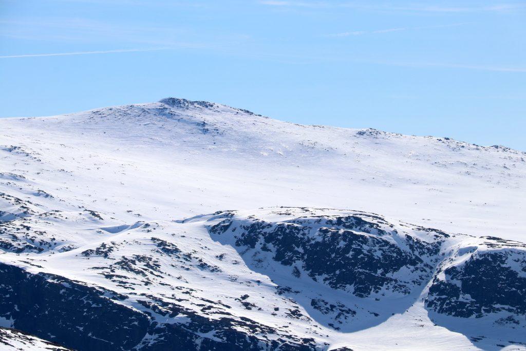 Harahorn (1.581 moh) sett fra oppstigningen til Ranastongi.