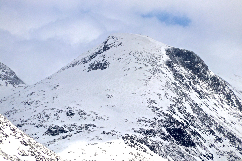 Fannaråki (2.068 moh) sett fra Turtagrø.