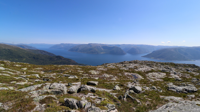 Utsikt fra Fløyen ved Sognefjorden.