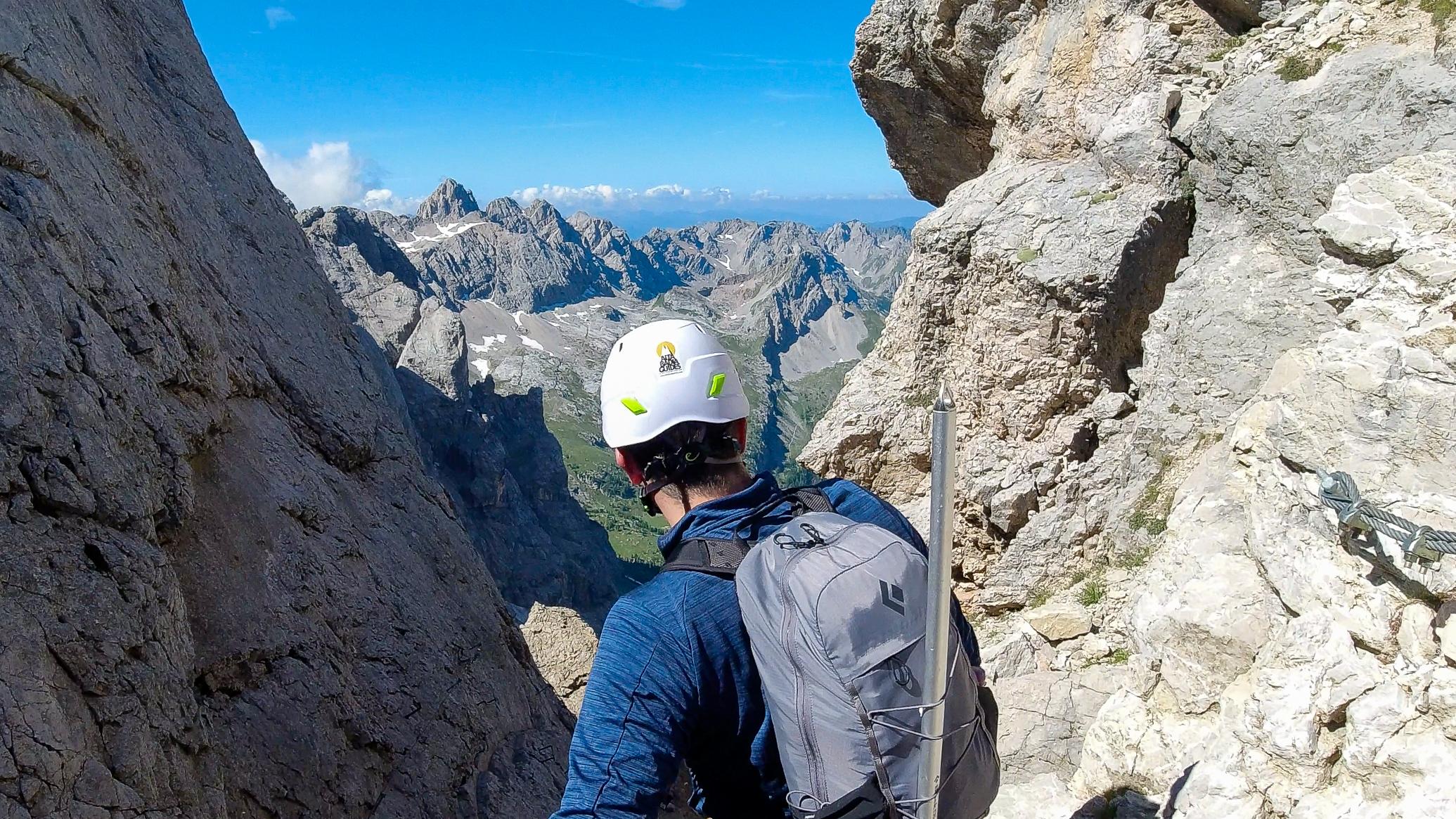 Vestryggen opp Marmolada har en utrolig utsikt i alle retninger.