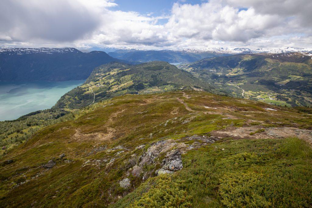 Stien som går opp Moldens sørside.