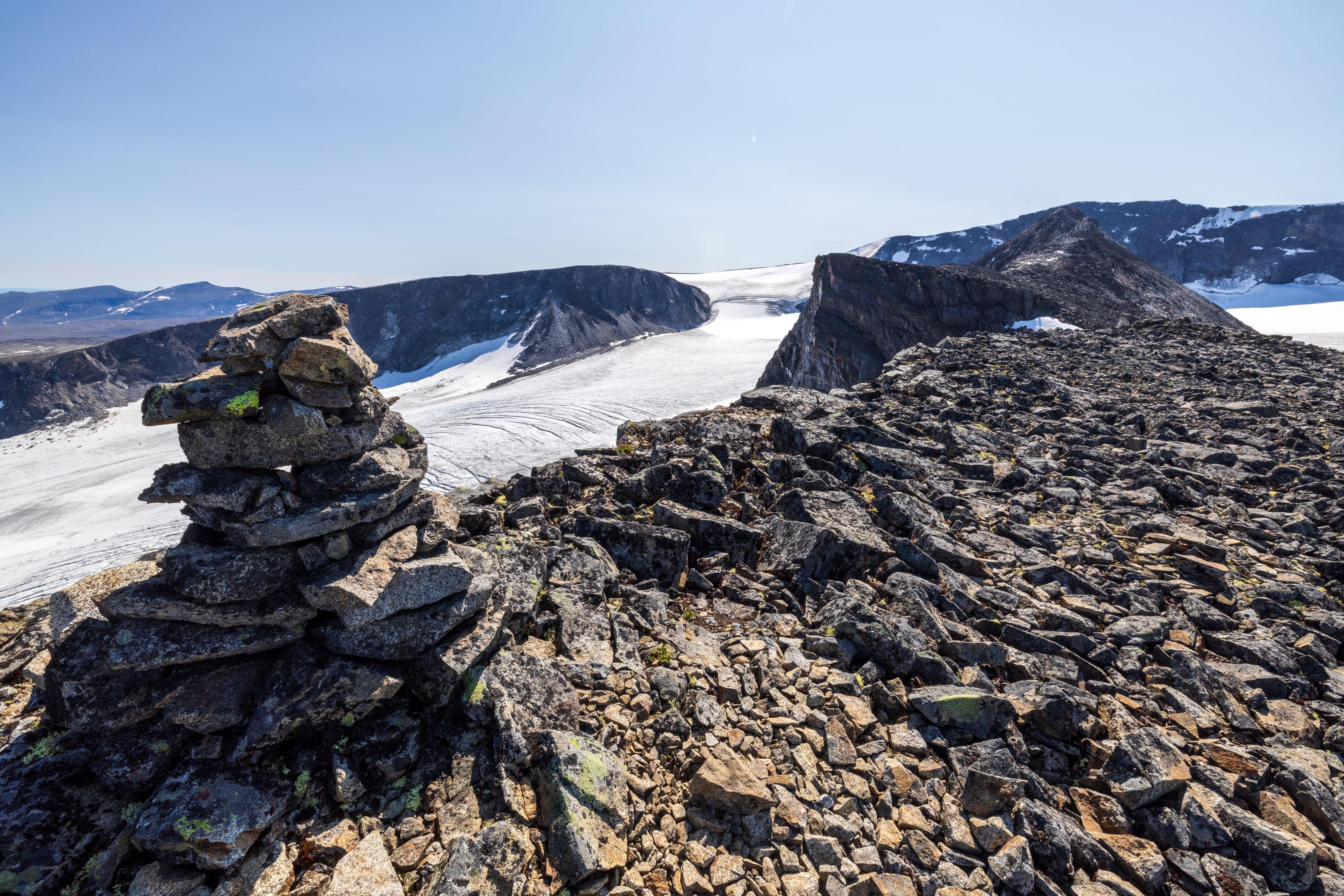 Toppvarden på Dronningje (2.189 moh)