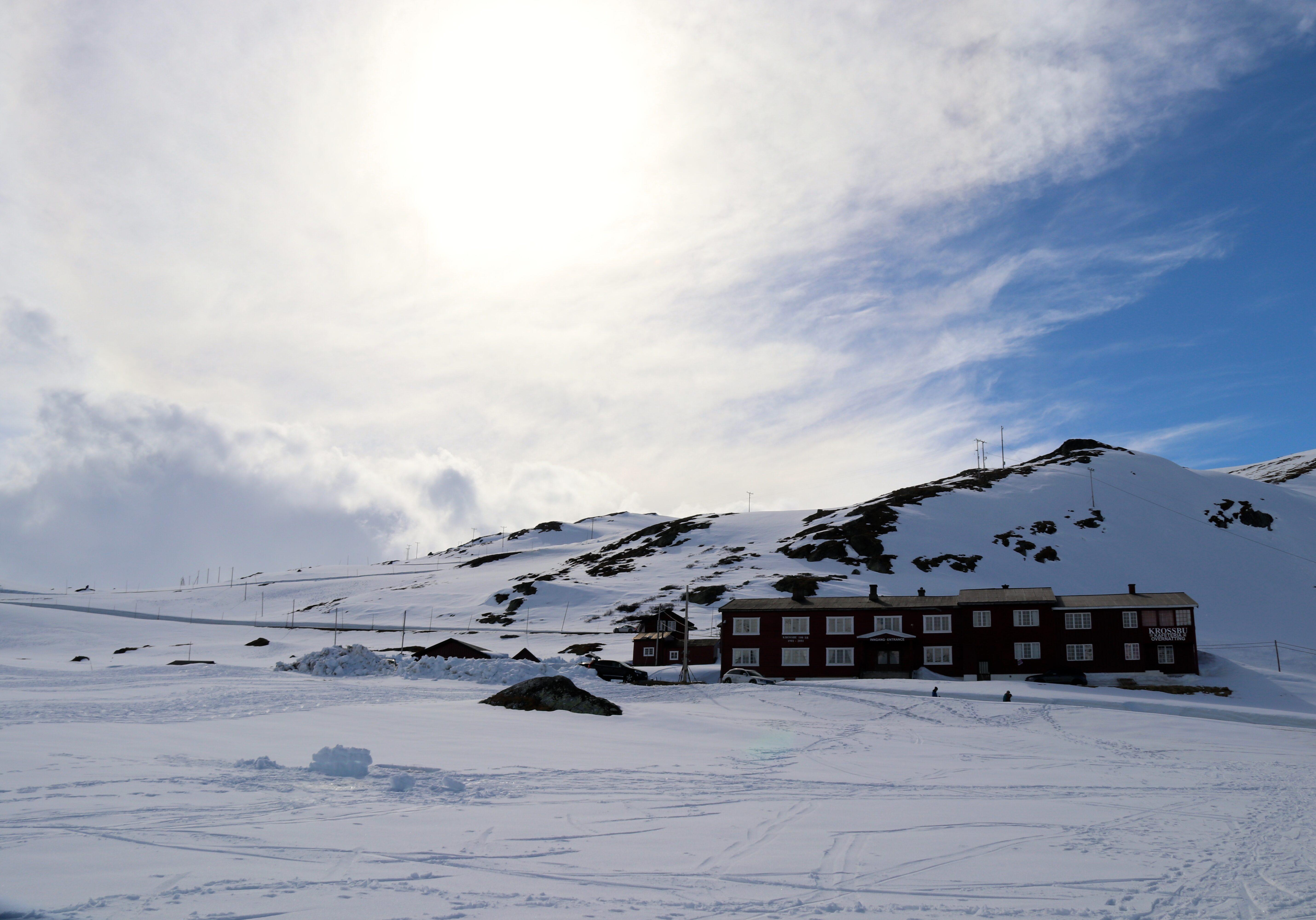 Krossbu Turiststasjon på Sognefjellet.