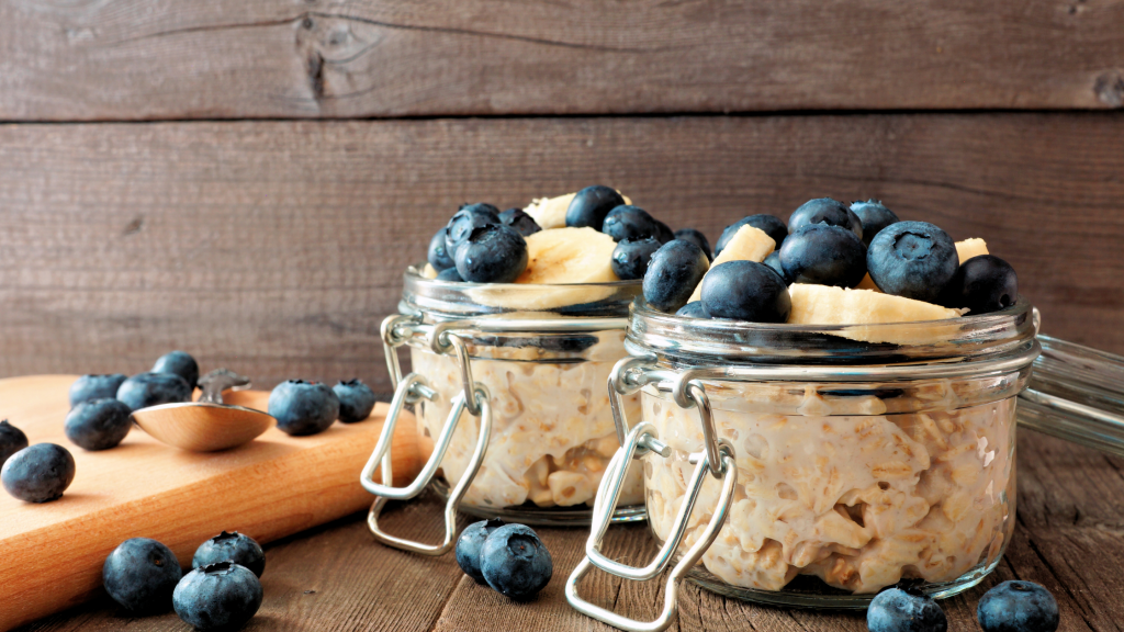 Banana- Blueberry Overnight Oats