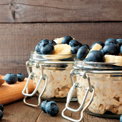 Banana- Blueberry Overnight Oats