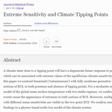 Extreme Sensitivity and Climate Tipping Points