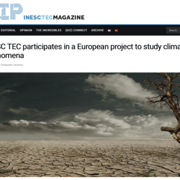 News section on TiPES from INESC TEC