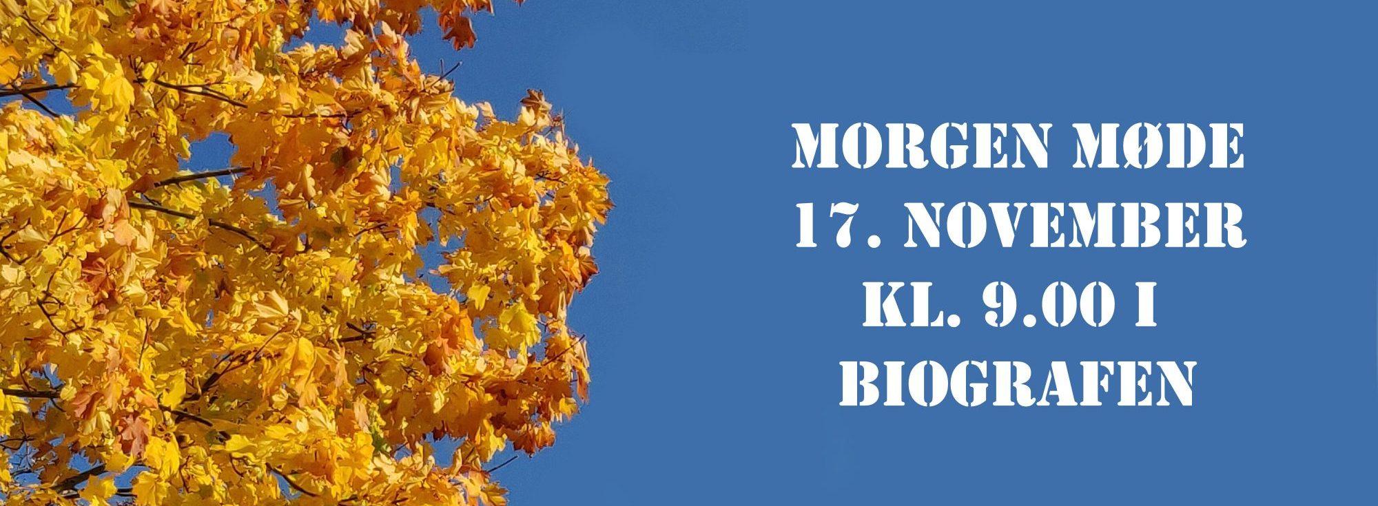 Morgenmøde 17. november