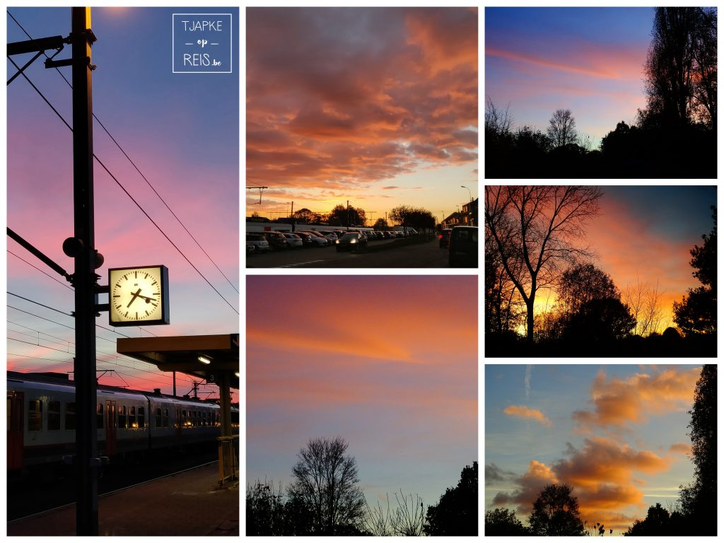 zonsopgang en zonsondergang