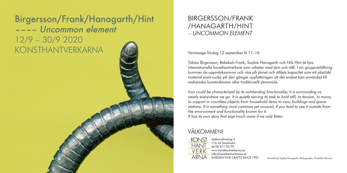 Invitation Card to the echibition Uncommon Element.