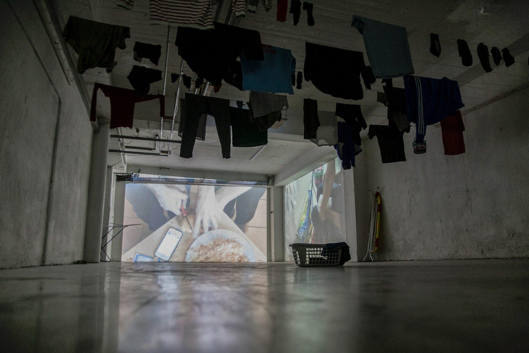 Kaffee und Haut #1, installation view at Hotel Friends / antichambre, 2019
