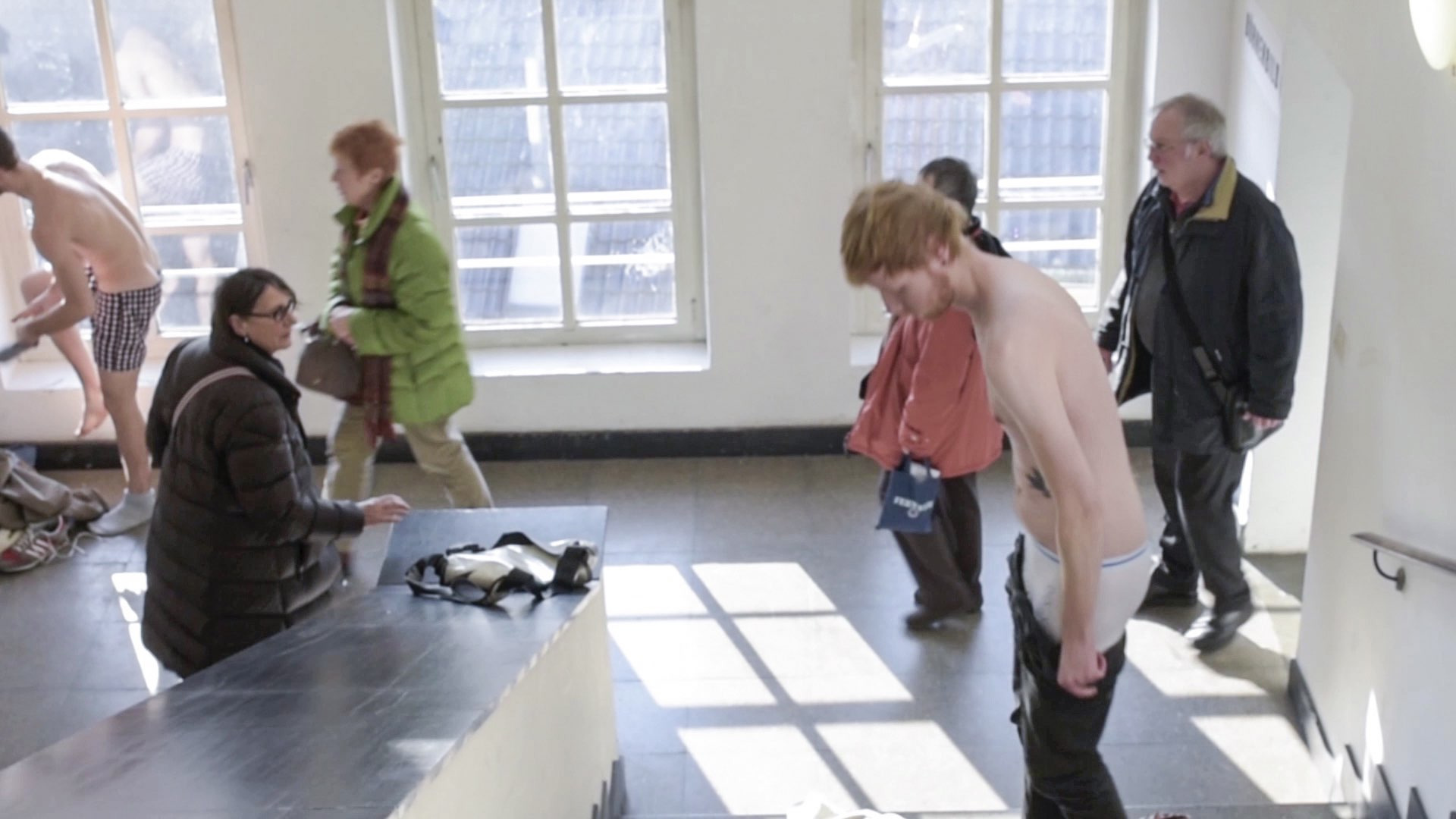 dress exchange, action view, video still, 2015