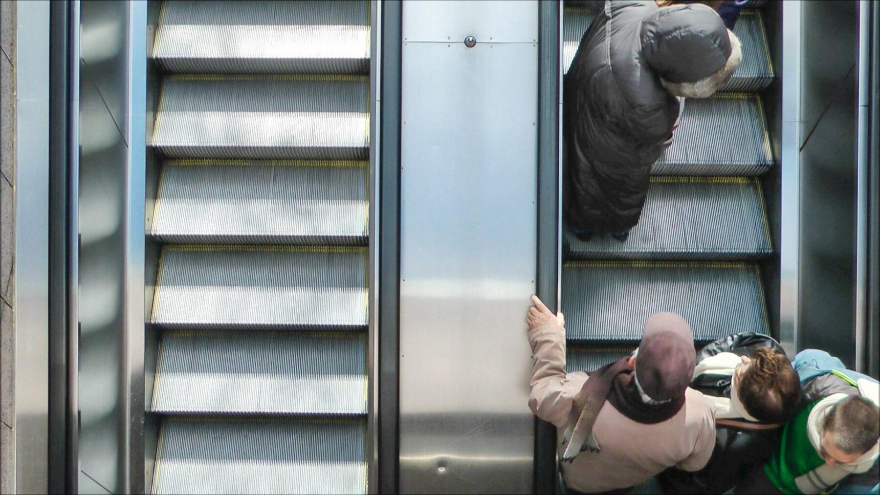 public escalator, videostill aktion view, 2015