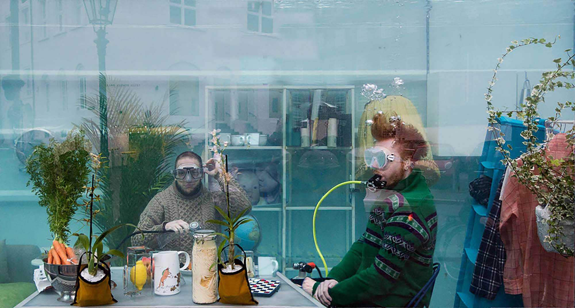Unterwasserlebensentwurf, exhibition view, 2018