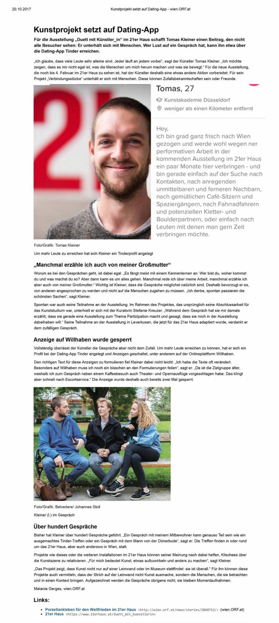 Verbindungsstück #2, ORF-Article, 2017