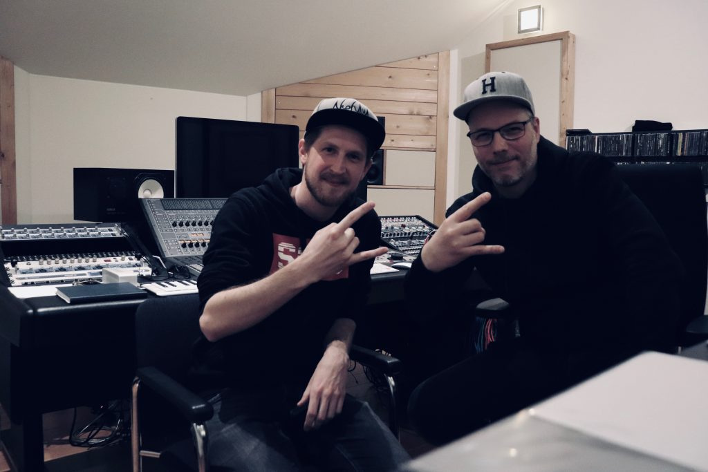 Roelof Klop and Erwin Hermsen at Toneshed Recording Studio