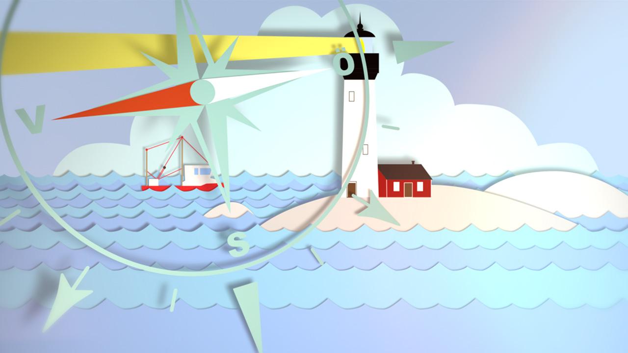 Yttersta barnen Sea Animation Informationsgrafik Produktionsbolag Stockholm