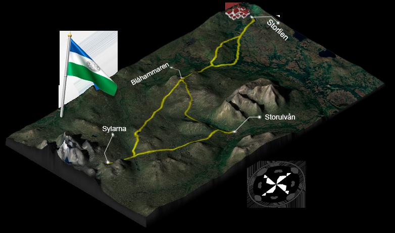 3d-karta Jämtlandstriangeln