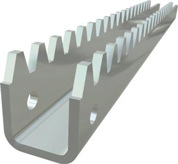 stalen tandbaan H=22 m/m verkrijgbaar in diverse lengte maten