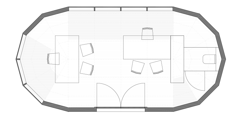 tortiga-cabin-grondplan-office