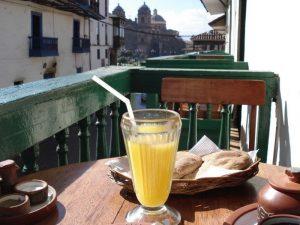 Healthy breakfast in Cuzco Peru