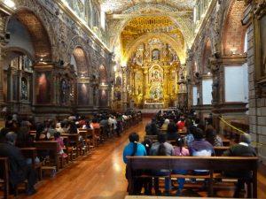 A beautiful church in Quito