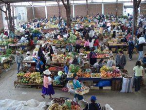Local food market in Ecuador