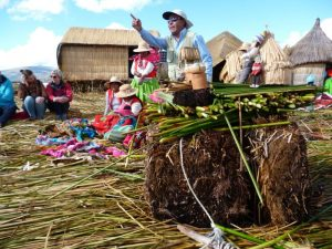 English speaking guide on Uros Islands