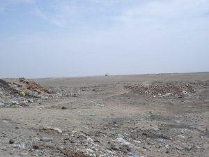 Littering rubish in Peru