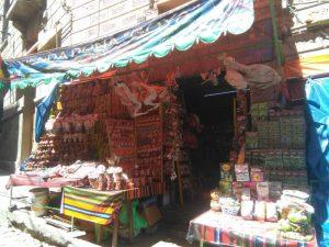 A local tourist market in Bolivia
