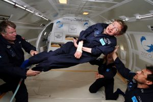 Stephen Hawking in and about space traveling