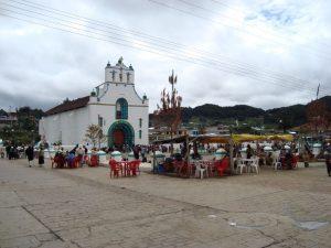 Local church in San Cristobal Mexico