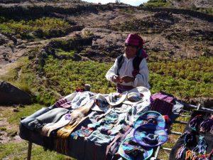 Tourism on Taquile Island in Lake Titicaca Peru