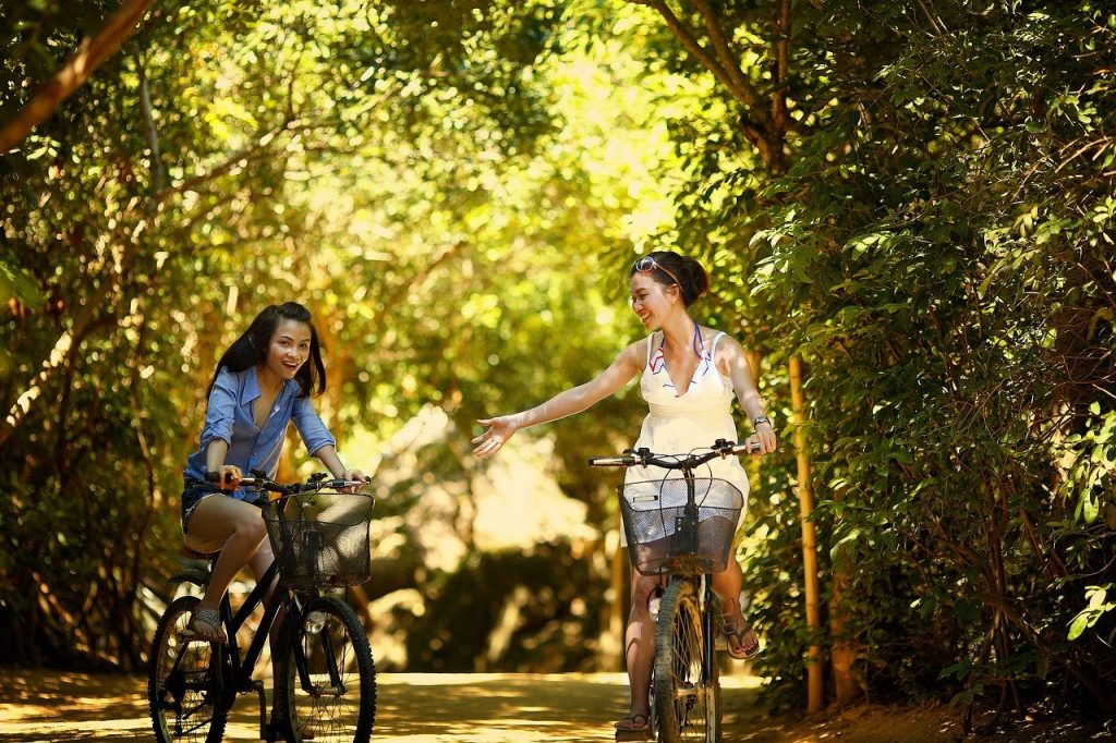 Cycle travel and be happy and healthy