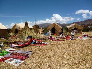 Uros Islands in Lake Titicaca in Peru