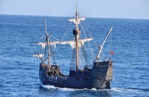 Santa Maria sailing boat of Columbus