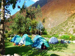 Camping on the Inca Trail in Peru