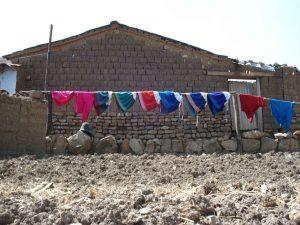 Peruvian laundry in the sun